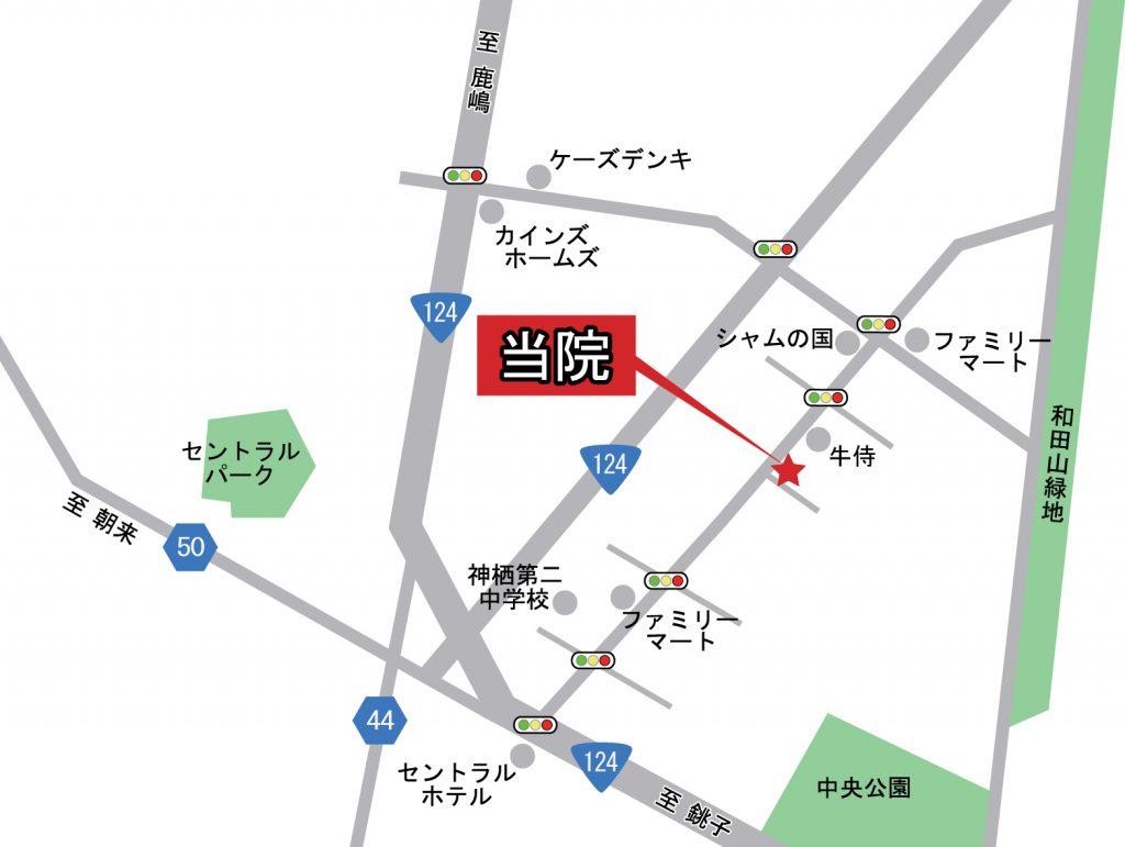 整体院飛翠への行き方地図
