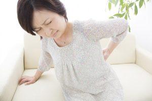 神栖整体飛翠、腰痛女性の画像